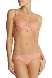 Elle Macpherson Intimates Fluo Summer embroidered stretch-tulle briefs