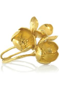 Alex MonroeThree flower ring