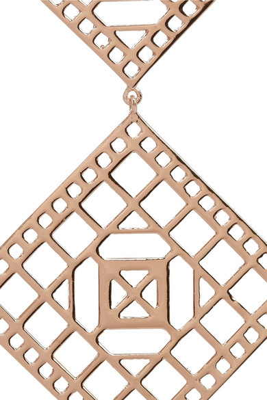 Arme de l 39 amour rose gold plated earrings net a porter com for Net a porter usa