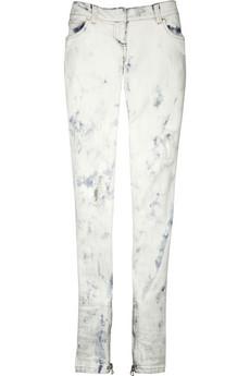 Balmain Acid wash ripped jeans
