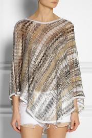 MissoniZigzag open crochet-knit poncho