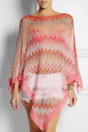 MissoniCrochet-knit cotton poncho