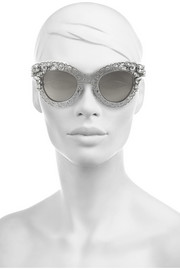 Dolce & Gabbana Cat eye filigree silver-tone sunglasses
