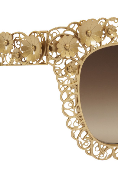 Dolce Gabbana Filigree Sunglasses  dolce gabbana cat eye filigree gold tone sunglasses net a