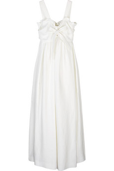 Chloé Linen midi-length dress