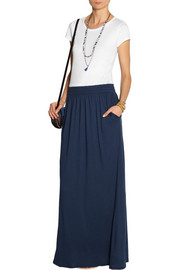 SplendidColor-block Supima cotton and modal-blend jersey maxi dress