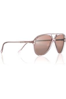 Cutler and GrossMirrored aviator sunglasses