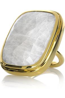 Monica Vinader Gold moonstone cocktail ring
