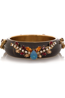 Erickson Beamon Embellished bone bangle