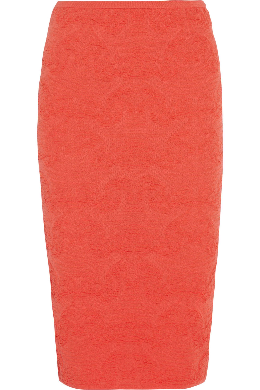 M Missoni Textured-knit pencil skirt