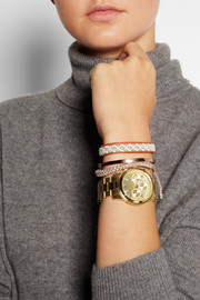Michael Kors Gold-plated chronograph watch