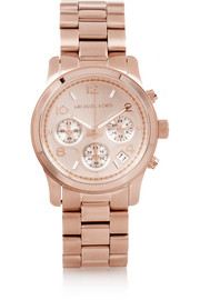 Michael Kors Rose gold-tone chronograph watch
