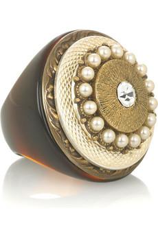RINGSECLECTICOversized stone-embellished ring