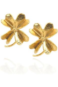 Alex MonroeClover stud earrings