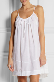 Donna Karan Sleepwear Cotton-batiste nightdress