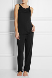 Donna Karan Sleepwear Stretch-jersey pajama set