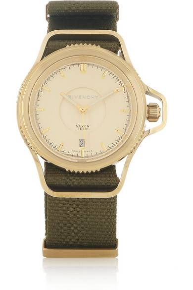 Givenchy seventeen watch in gold pvd plated stainless steel net a porter com for Givenchy watches