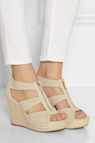 7e930045ec4 Damita linen-canvas wedge espadrilles sandals