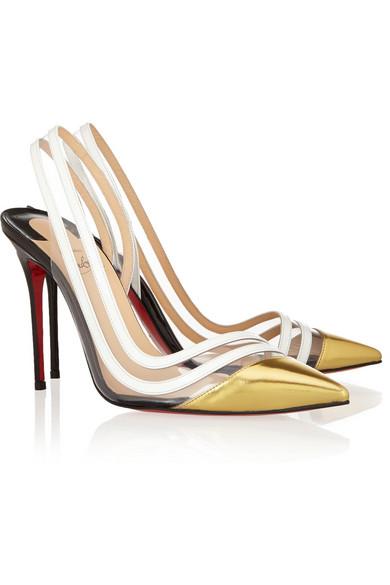 louis vuitton sneaker men - Christian Louboutin | Paralili 100 patent-leather and PVC ...