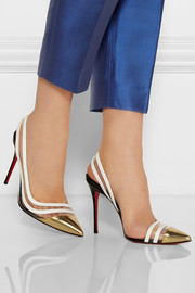 Christian Louboutin Paralili 100 patent-leather and PVC slingback pumps
