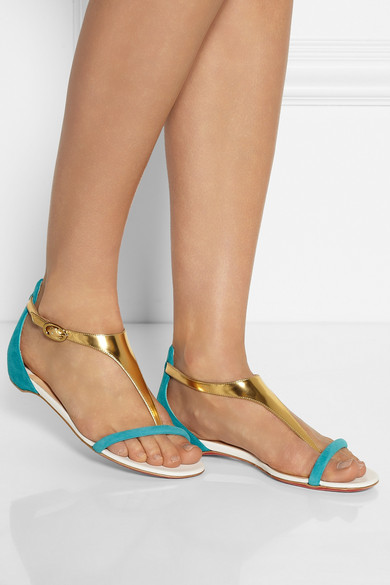 Artesur ? christian louboutin metallic leather sandals
