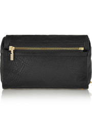 Elizabeth and James Cynnie Roll textured-leather clutch