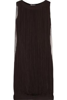 Jil Sander Fringed silk dress