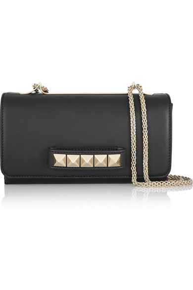 Valentino - Va Va Voom Leather Shoulder Bag - Black