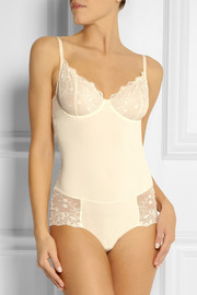 Yummie by Heather Thomson Venice lace-trimmed stretch bodysuit