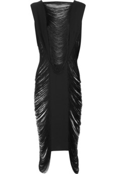 Jil Sander Cruz fringed silk dress