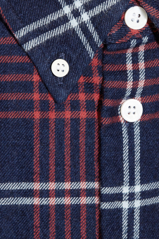 Band of Outsiders Plaid cotton-flannel boyfriend shirt