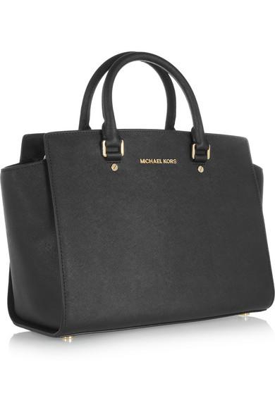 082695d0840e MICHAEL Michael Kors | Selma large textured-leather tote | NET-A ...
