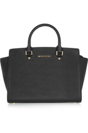 Selma large textured-leather tote