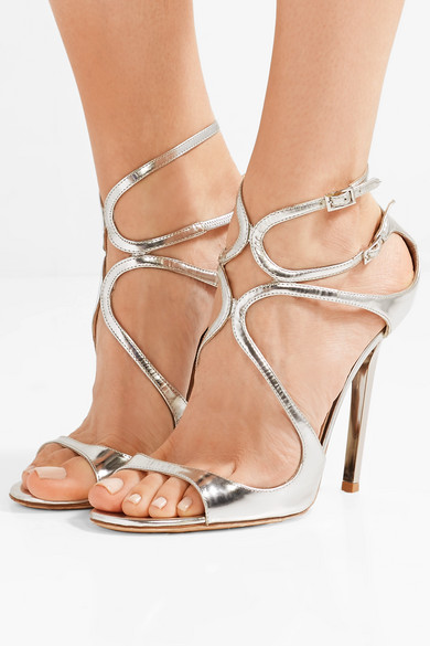 a7836d39c79 Jimmy Choo. Lance 115 metallic leather sandals