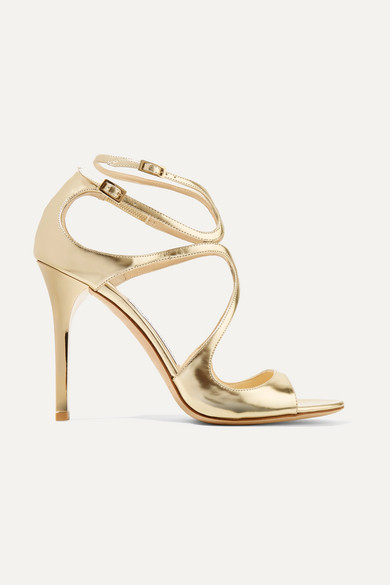 0c73c2e9a284 Jimmy Choo. Lang 100 metallic leather sandals