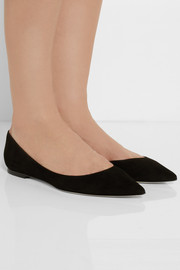 Jimmy Choo Alina suede point-toe flats