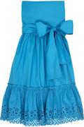 DKNY Strapless cotton-blend sundress
