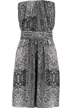 Maje Cosmic snakeskin-print dress