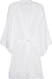 Eberjey Matilda lace-trimmed jersey robe