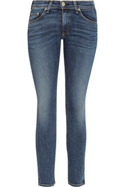 Capri cropped mid-rise skinny jeans