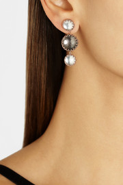 Larkspur & Hawk Olivia Small Corset rose gold-dipped topaz earrings