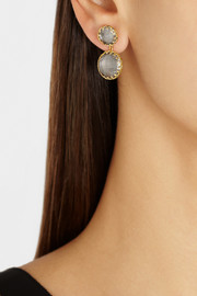 Larkspur & Hawk Olivia Small gold-dipped topaz earrings