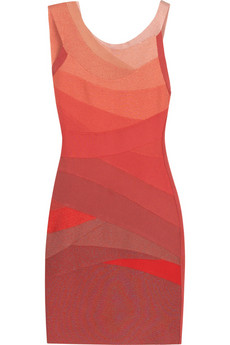 Hervé Léger Cyrille ombré dress