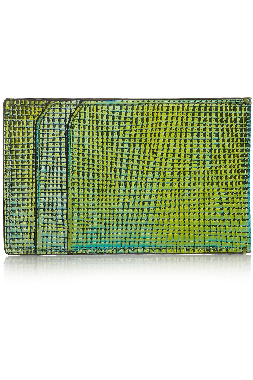 3.1 Phillip Lim Porte-cartes en cuir texturé irisé