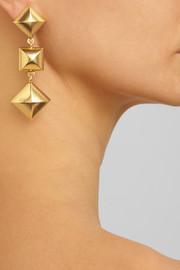 Oscar de la RentaGold-plated pyramid stud clip earrings