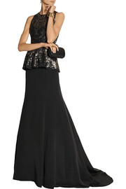Lela Rose Silk maxi skirt