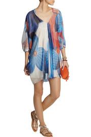 Diane von FurstenbergPrinted metallic silk-blend mini dress