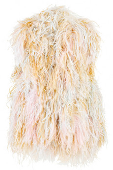 Sonia Rykiel Feather covered gilet