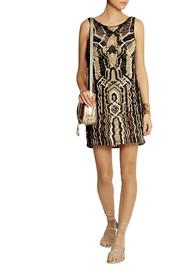 Diane von FurstenbergNeapoli metallic macramé mini dress