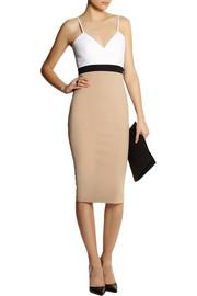 Victoria BeckhamCami color-block stretch cotton-blend dress